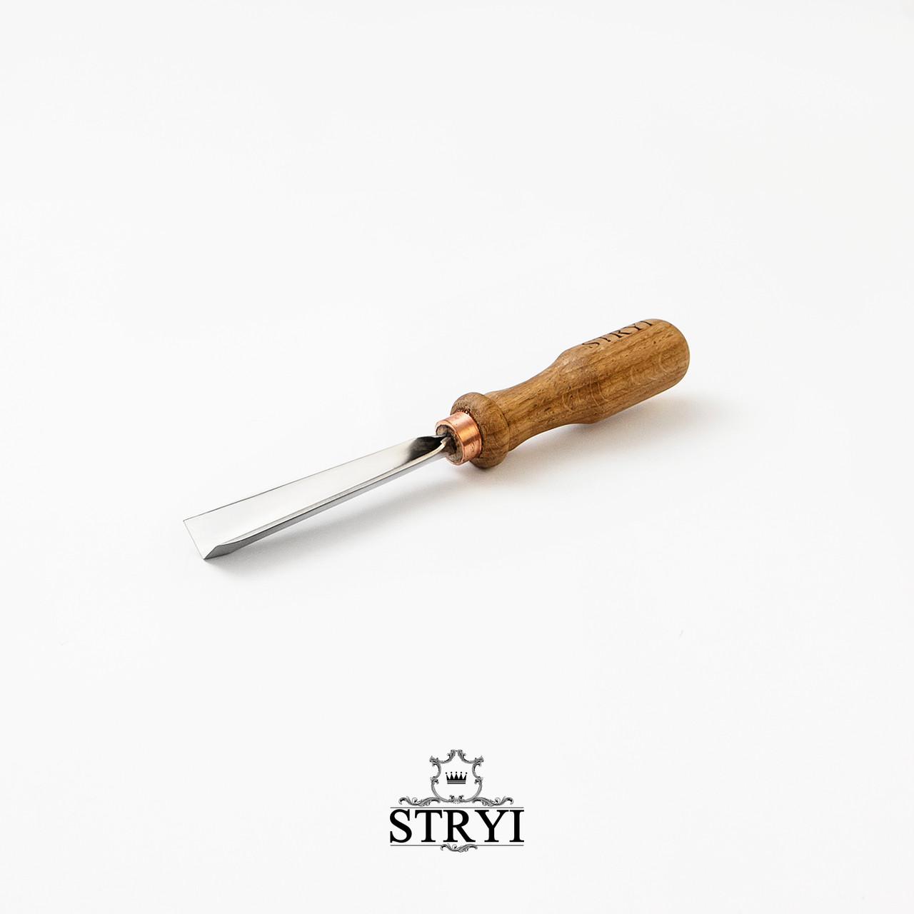 Угловая стамеска 90 градусов 15мм для резьбы по дереву от производителя STRYI