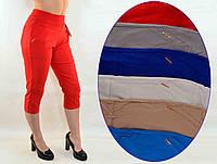 Бриджи женские стрейч в летних расцветках от XL до 5XL (Польша) - хлопок ( Остаток 4 шт.)