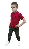 Футболка для мальчика красная поло 7082