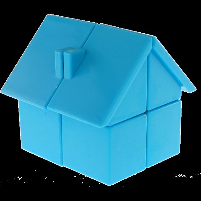 Головоломка Будинок YJ House 2x2x2 (ВайДжей Хаус 2х2х2), Голубий