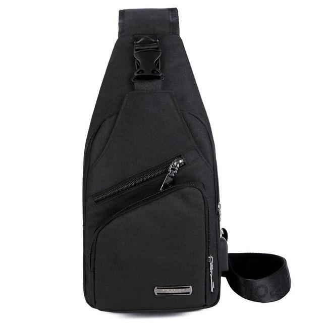 Мужская сумка слинг, кросс боди через плечо V9923 черная