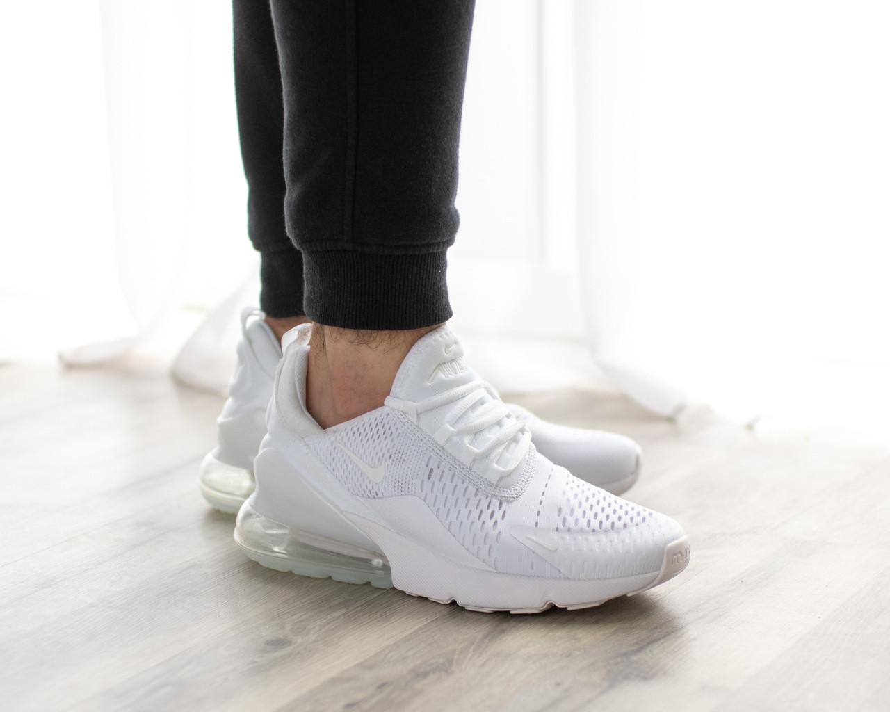 Женские кроссовки в стиле Nike Air Max 270 All White (39, 40 размеры)