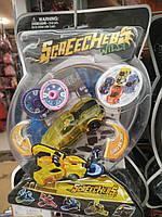 Машинка-трансформер SCREECHERS WILD желтый