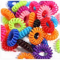 Гумки пружинки (спіральки) кольорові d 3 см 80070, фото 1