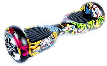 """Гироскутер гироборд Smart Balance Wheel A3 6.5"""" с автобалансом и пультом Bluetooth Hip-Hop Хип-Хоп черепа"""