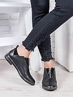 Туфли черная кожа Никки 6965-28