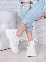 Кроссовки кожа в стиле Balenc!aga белые 6994-28