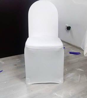 Стрейч чохол на стілець з Круглою спинкою для Готелю з Цупкої тканини Спандекс, фото 2