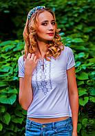 Женская вышитая футболка (173)