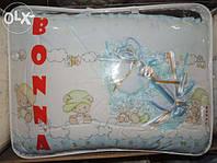 """Детский постельный комплект белья """"Bonna Lux"""" Зверюшки, Бежево-голубой"""