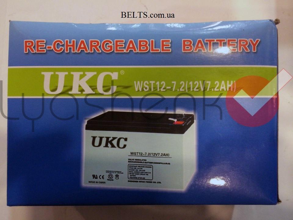 Акумулятор UKC 12V 7A (УКС 12 вольт 7 Ампер на годину)