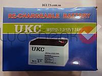 Акумулятор UKC 12V 7A (УКС 12 вольт 7 Ампер на годину), фото 1