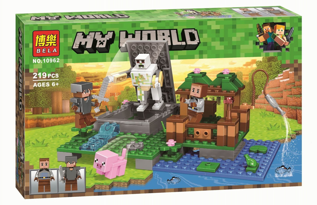 """Конструктор Bela Minecraft 10962 """"Голем на ферме"""" (аналог Lego Майнкрафт, Minecraft) 219 дет"""
