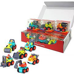 Набор детских игрушек Huile Toys Рабочие машинки 12 шт. (3116B)