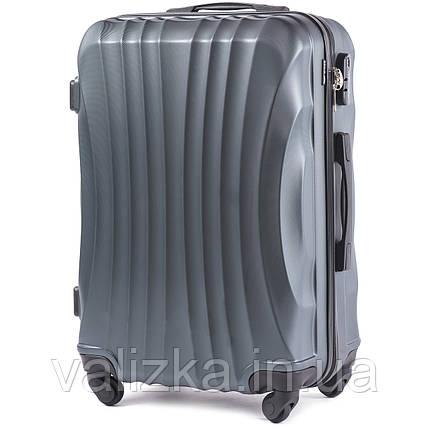Большой чемодан из поликарбоната Wings 159  темно-зеленый на 4-х колесах, фото 2