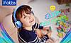 Детские наушники Ifecco  складные регулируемые голубые, фото 4