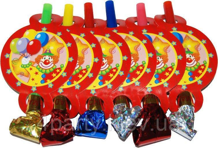 Дудки праздничные Клоун С Шарами 170216-008