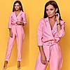 Комбинезон женский, стильный, розовый, 511-016