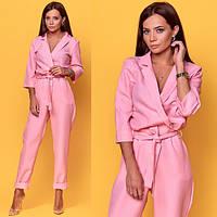 Комбинезон женский, стильный, розовый, 511-016, фото 1