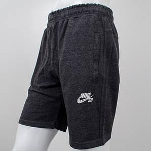 Шорты спортивные мужские, Nike, темный антрацит. (Реплика)