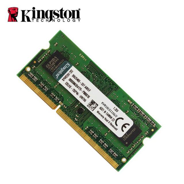 Оперативная память для ноутбука Sodimm DDR3L 2gb Kingston 1600Mhz нов