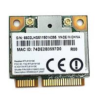 Сетевая карта RTL8191SE Wifi модуль для ноутбука HalfSize Realtek RTL8191SE 802.11 b,g,n 150Mbps