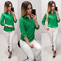 Блуза  женская арт 828, цвет зеленый, фото 1