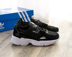 Женские кроссовки в стиле Adidas Falcon Black/White (36, 37, 38, 39, 40 размеры)