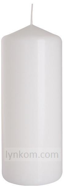 Свеча цилиндр белая оптом 6 х 15 см