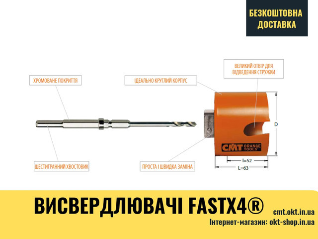 "Центрующее корончатое сверло для Ø20-30mm (25/32""- 1-3/16"") - Bi-Metal Plus 550-HS1 HSS"