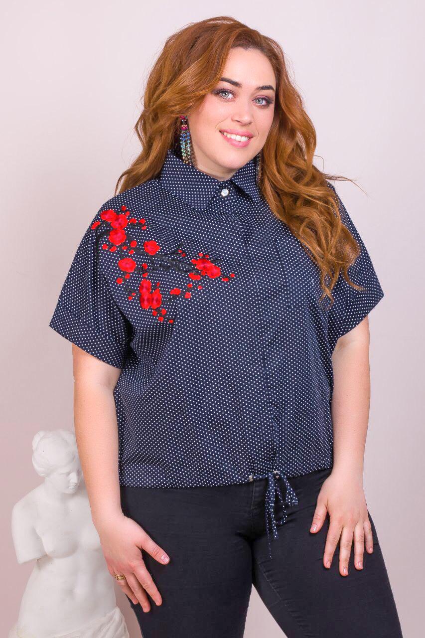 246d60f96a3 Женская хлопковая рубашка большого размера 52-58 (в расцветках ...