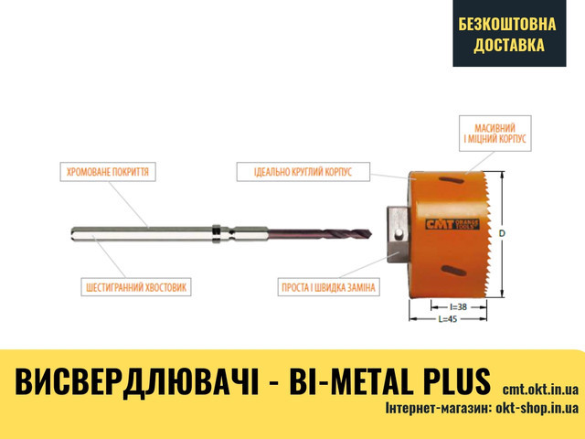 Биметаллические коронки - Bi-Metal Plus 551-020 20x440x220x290x640 BIM