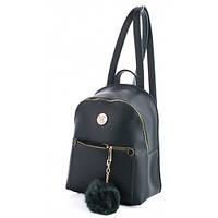 Молодежный рюкзак WeLassie 44408 с пушком, зеленый