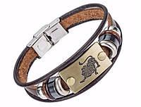 Кожаный браслет Primo Zodiac - Leo (Лев)