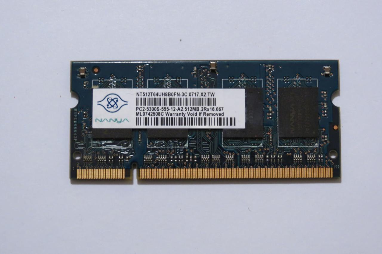 Оперативная память для ноутбука Sodimm DDR2 512MB, pc5300, 4200 (Hynix, Samsung, Kingston...) бу