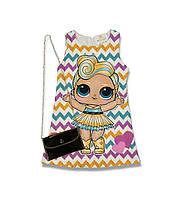 Комплект платье и сумочка для девочки лето с куколкой Lol