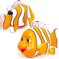 Игрушка музыкальная детская Huile Toys Рыбка-клоун (998)