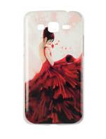 """Пластиковый чехол с защитной пленкой на Samsung G7106 g7102 G7108 Galaxy Grand 2 Duos """"девушка в красном"""""""