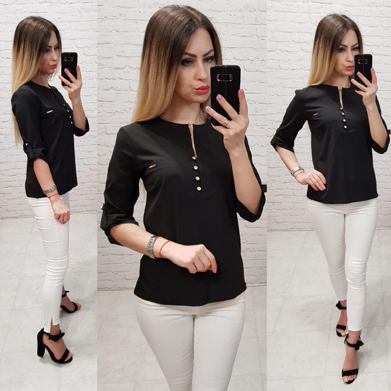 Блузка женская арт 830, цвет черный