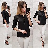 Блузка женская арт 830, цвет черный, фото 1
