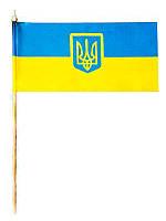 Флажок Украины с гербом