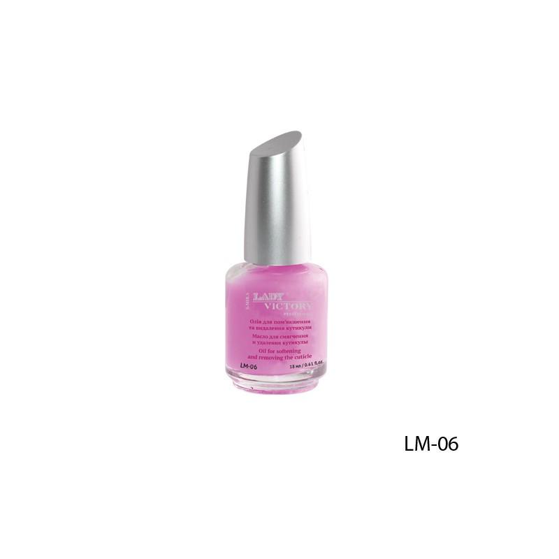 Масло для ногтей и кутикулы LM-06 с экстрактом розы