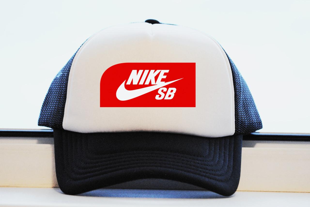 Кепка Nike SB черная летняя принт реплика