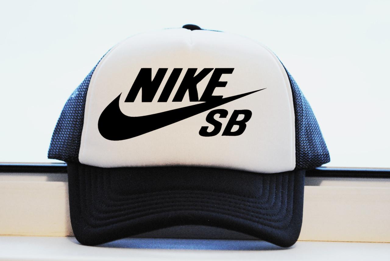Бейсболка Nike SB Найк черная летняя принт реплика