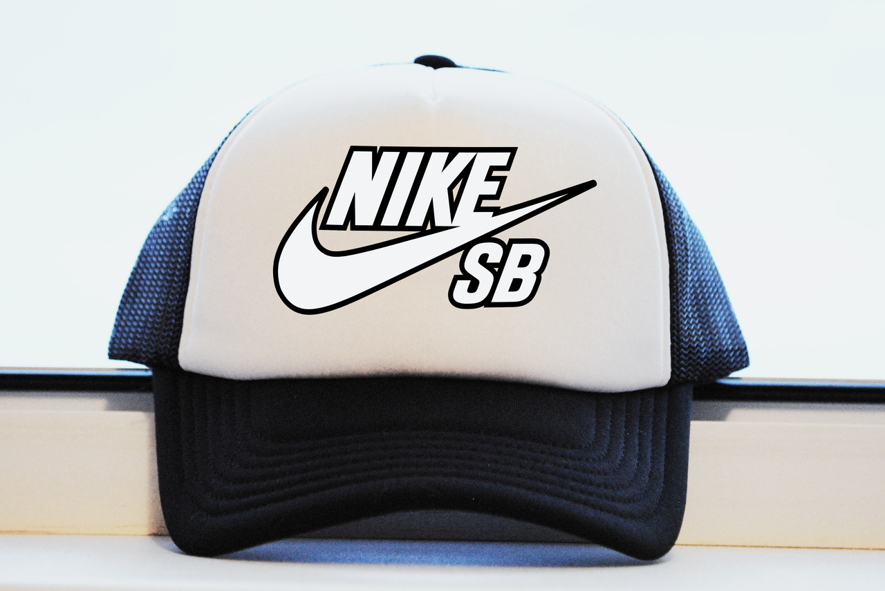 Кепка принт NIKE SB свой логотип реплика
