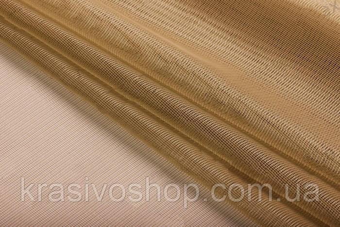 Ткань для тюля фатин лайт песочный