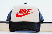 Кепка Найк красный принт , летняя бейсболка реплика , фото 1