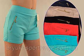 Шорты женские с карманами на молнии и в больших размерах XL - 5XL - хлопок