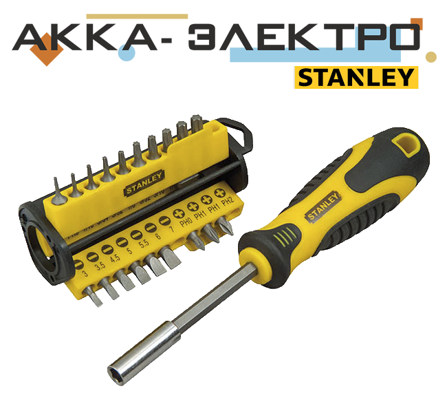 Отвертка Stanley Multibit со сменными вставками 33+1 предмета (STHT0-70885)