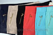 Шорты женские с карманами на молнии и в больших размерах XL - 5XL - хлопок, фото 2